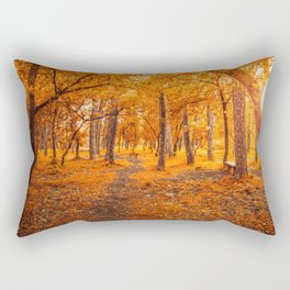 Sun through autumn Rectangular Pillow