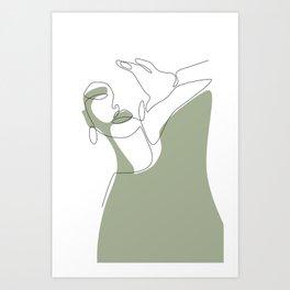 Olive Selfie Art Print