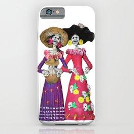 Las Calaveras Amigas iPhone Case