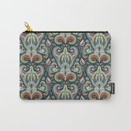 Paisley Print w/ Teal, Magenta & Mustard Yellow Carry-All Pouch