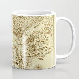Vintage Yosemite Map 1870 Coffee Mug