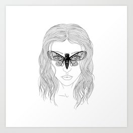 cicada glasses Art Print