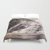 geology Duvet Covers featuring Waterfall in all its beauty by General Design Studio