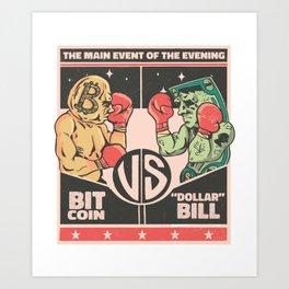cool bitcoin investor t-shirt bitcoin fan outfit Art Print