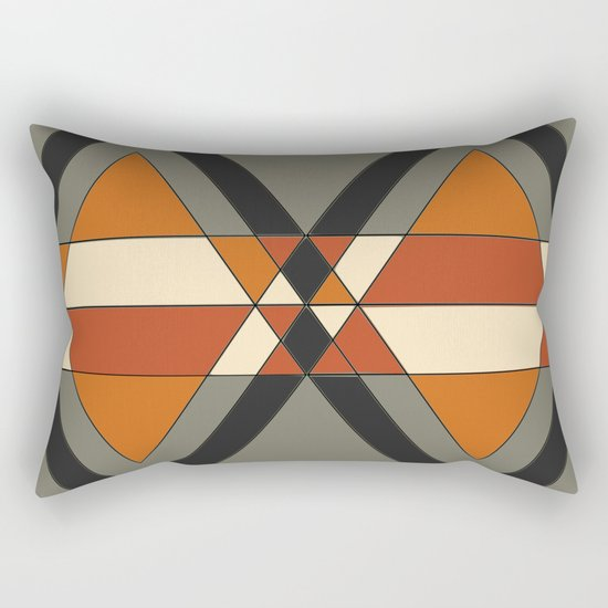 Tribal geometry Rectangular Pillow
