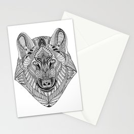Tangled Wolf Stationery Cards