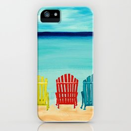 A Day At The Beach iPhone Case