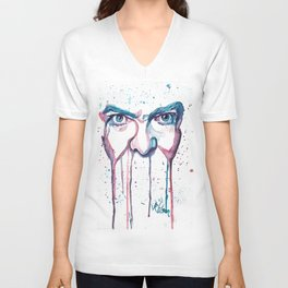 Bowie Watercolor  Unisex V-Neck