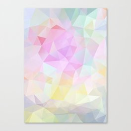 Abstract print of triangles, polygon in pastel colors Canvas Print