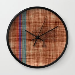 Old Fabric Wall Clock