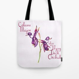 Flying Duck Orchid (Wild Orchid Series I) Tote Bag