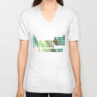periodic table V-neck T-shirts featuring Periodic Table, Pixilated Color Blocks by kltj11