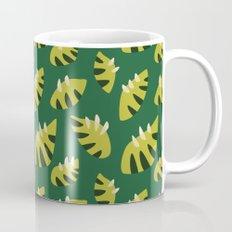 Pretty Clawed Green Leaf Pattern Mug