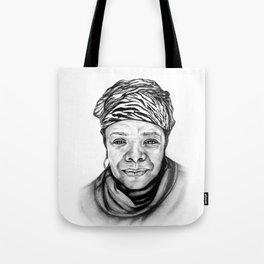 Maya Angelou - BW Original Sketch Tote Bag