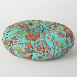 Vintage Inspired Paisley Floor Pillow
