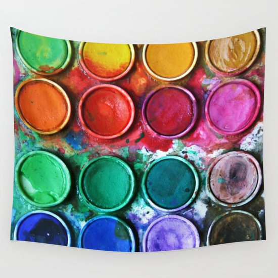 Paint box Wall Tapestry