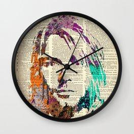 Nirvana art on dictionary #2 Wall Clock