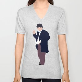 Second Doctor: Patrick Troughton Unisex V-Neck
