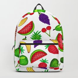 Tutti Fruity Hand Drawn Summer Mixed Fruit Backpack