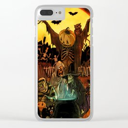 HALLOWS EVE Clear iPhone Case
