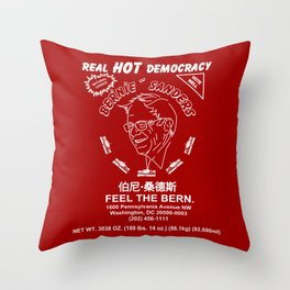 Bernie Sanders Sriracha Style Feel The Bern Throw Pillow
