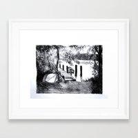 virginia Framed Art Prints featuring Virginia by Caroline Marks
