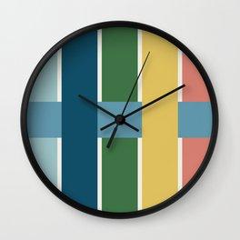Basket Weave in Multicolor Wall Clock