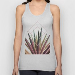Tropical Desire - Foliage and geometry Unisex Tank Top