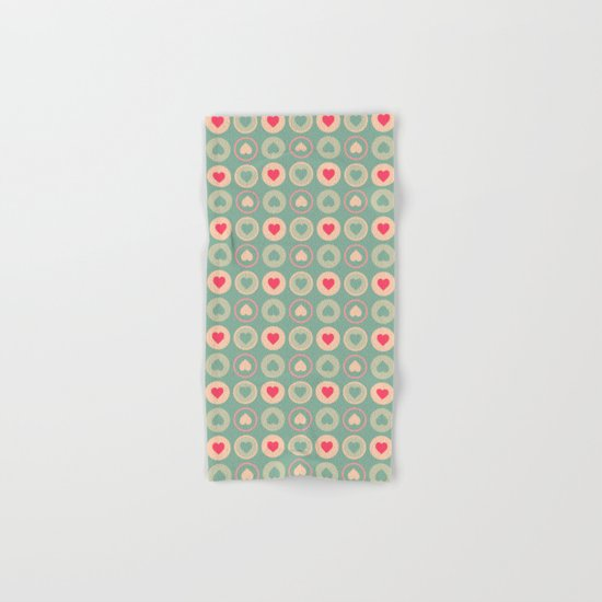Cookie Love Pattern Hand & Bath Towel