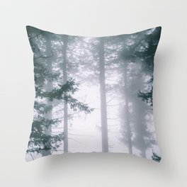 Moody Forest II Throw Pillow