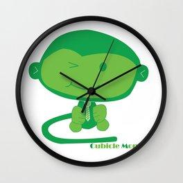 Cubicle Monkey Wall Clock