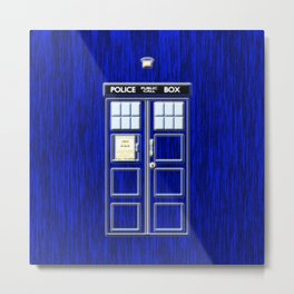 Tardis Art Blue Phone Both Metal Print