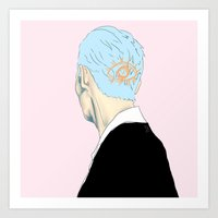'hair' eye Art Print