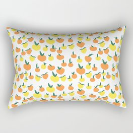 Handdrawn Lemons and Oranges Pattern Rectangular Pillow