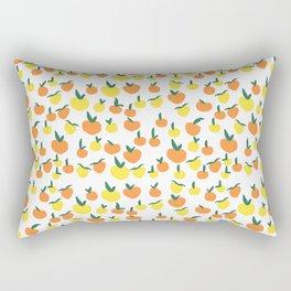 Handdrawn Lemons and Oranges Pattern Rectangular Pillow