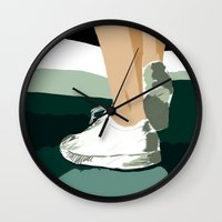feet Wall Clocks featuring Feet by Berta Merlotte
