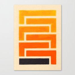 Orange & Black Geometric Pattern Canvas Print
