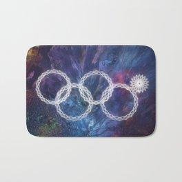 Sochi Olympic Rings Bath Mat