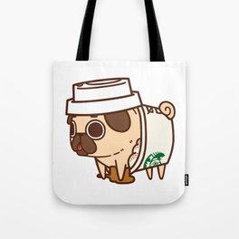 Puglie Pugkin Spice Latte Tote Bag