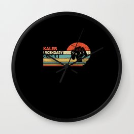 Kaleb Legendary Gamer Personalized Gift Wall Clock