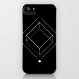 Inverted square geometry black iPhone Case