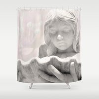 angel Shower Curtains featuring Angel by ZenaZero