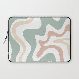 Liquid Swirl Abstract Pattern in Celadon Sage Laptop Sleeve
