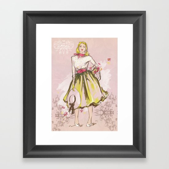 50s Framed Art Print