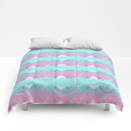Summer Vibes Tie Dye in Cotton Candy Comforters