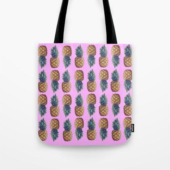 pineapples pink Tote Bag