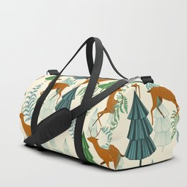 Deers in the forest Duffle Bag