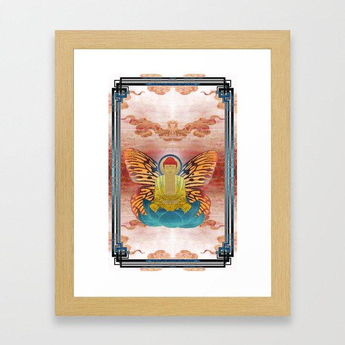 buddherfly #2 Framed Art Print