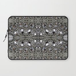 girly chic glitter sparkle rhinestone silver crystal Laptop Sleeve