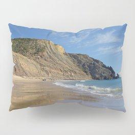 Praia da Luz beach in winter Pillow Sham